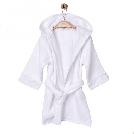 Baby and children's hooded bathrobe in organic cotton GOTS - Twinkle