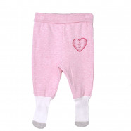 baby girl organic pants with Active Rose socks