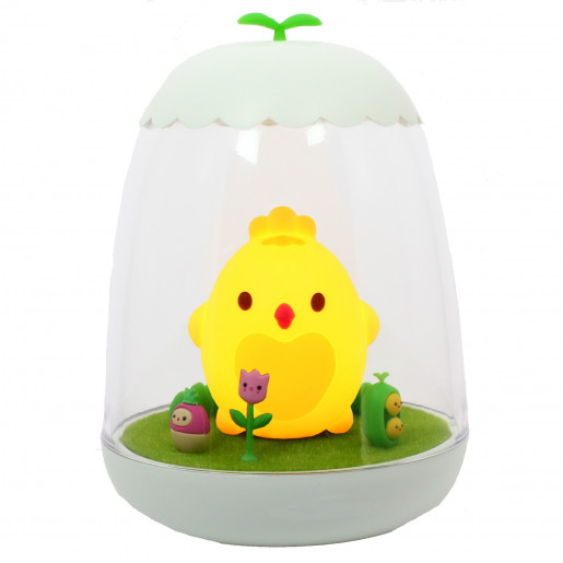 Rechargeable night light - bright and magical - Poussin