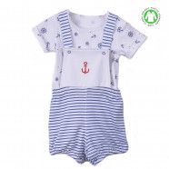 2-piece set in organic cotton - romper and bodysuit - Marina