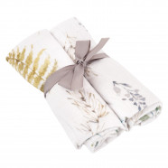 Bamboo Muslin Multipurpose Swaddles - Set of 2 - Natura