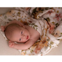 Bamboo Muslin Multipurpose Swaddles - Set of 2 - Flora Corail