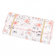 Certified cotton travel changing mat - Flora Corail Collection