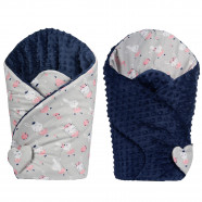 Swaddling sleeping bag - Baby nest Minky Reversible - Ballerinas