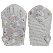 Swaddling Sleeping Bag - Baby Nest Minky Reversible - Lama