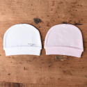 Pack of 2 organic cotton baby hats