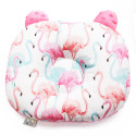 Anti flat head cushion - baby morphological pillow - Flamingo