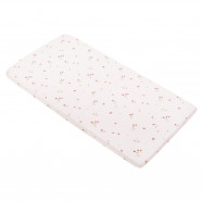 Baby fitted sheet in certified cotton - Premium Collection - Raspberry
