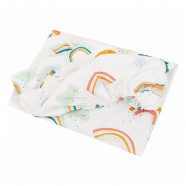 Certified cotton baby fitted sheet - Premium Collection - Arc en Ciel