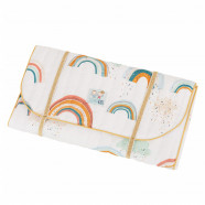 Certified cotton travel changing mat - Arc en Ciel