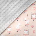 Double-sided cotton and minky baby blanket - Ballerinas