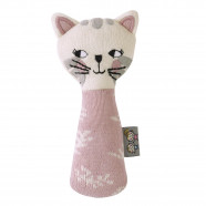 Organic cotton rattle - Kitten