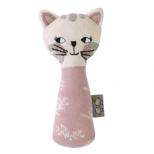 Organic cotton rattle - Kitten