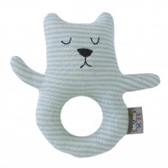 Organic cotton rattle - Teddy bear