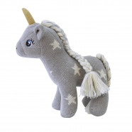 Handmade Knit Plush - Gray Unicorn