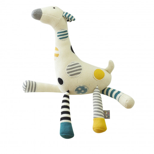 Handcrafted plush - knitted soft toy - Giraffe