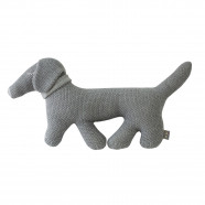 Handcrafted plush - knitted blanket - Dachshund dog