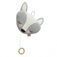 Cotton knit musical nightlight - Fox