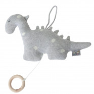 Cotton knit musical nightlight - Dino