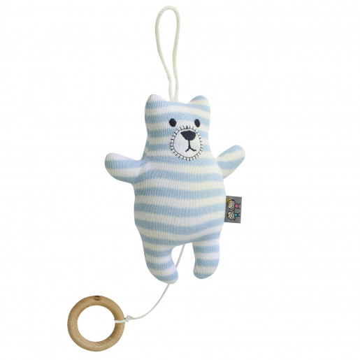 Cotton knit musical nightlight - Teddy bear