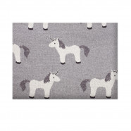 Lightweight Organic Cotton Baby Blanket - Unicorn