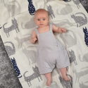 Baby blanket in organic cotton - Kittens