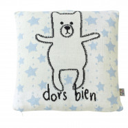 Organic cotton cushion cover - Teddy bear