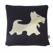 Organic cotton cushion cover - Scotty dog