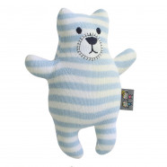 Handcrafted plush - knitted blanket - Teddy bear
