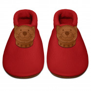 Soft leather baby slippers - Kitten