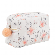 Toiletry bag, Flora Corail