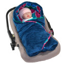 Reversible and multi-use wrap blanket, WAX MANDALA