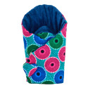 Reversible minky swaddle sleeping bag, WAX MANDALA