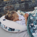 Nursing pillow - extra soft minky baby pillow - Maman Poule - Boho Arrows Gray
