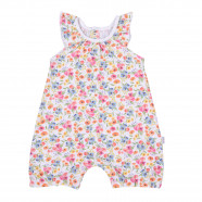 Baby girls' organic cotton romper playsuit - Flowers