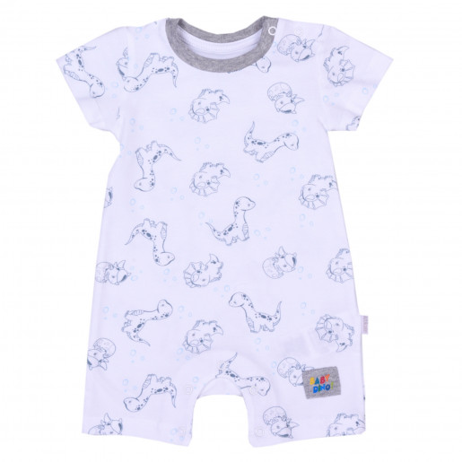 Organic cotton playsuit, Baby Dino
