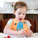 BPA free silicone bib with collector - Octopus