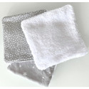 Washable baby wipes with storage pouch - Star gray