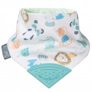 Bandana bib with teething tip, Safari