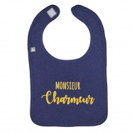 Personalized baby bib - Monsieur Charmeur