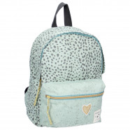 Children's leopard print backpack, menthol