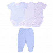 Birth set - organic cotton - 3 bodysuits and pants, DREAMS