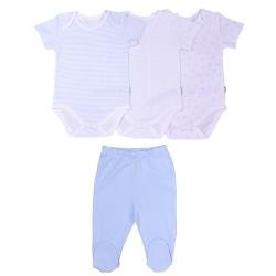 Birth set - organic cotton - 3 bodysuits and pants, DREAMS