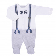 Baby pajamas and bandana in organic cotton, Mr Chic