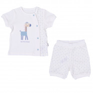 Ensemble T-shirt et short bébé en coton bio, My Little Friend