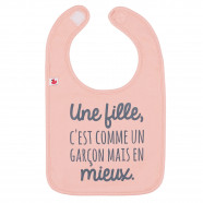 Personalized baby bib - A girl is like a boy but better