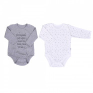 Pack of 2 Organic cotton bodysuit - long sleeves - Twinkle