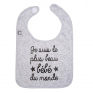 Personalized baby bib - I am the most beautiful baby in the world