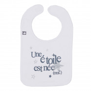 Personalized baby bib - A star is born (me!)