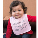 Personalized baby bib - I'm not crying, I'm ordering my dinner